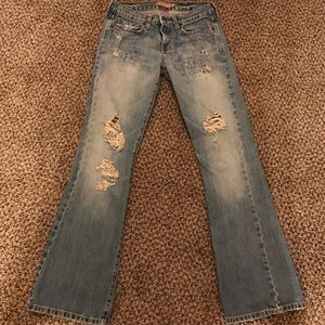 Abercrombie and Fitch Destroyed Jeans