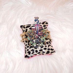 Betsey Johnson Jewelry - Betsey Johnson Peacock Wrist Cuff