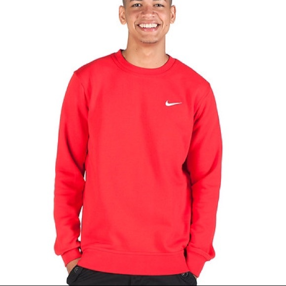 756b03bccf9d NIKE MENS CREW NECK SWEATER Red