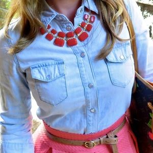 Jewelry - Coral Pink Statement Necklace