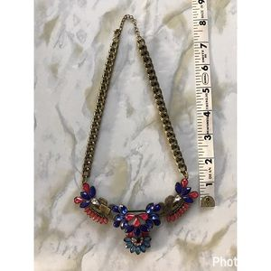 Jewelry - Baublebar Pink/Blue Statement Necklace