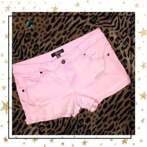 Fire Los Angeles Pants - Distressed pink shorts🦋