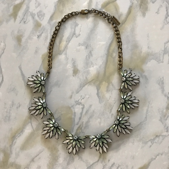 Jewelry - Baublebar Light Blue/Green Statement Necklace