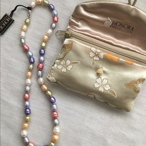 Honora Jewelry - Honora multi color pearl necklace