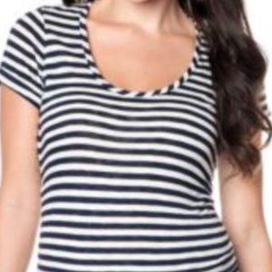 Motherhood Maternity Tops - Motherhood maternity short sleeve stripe tshirt