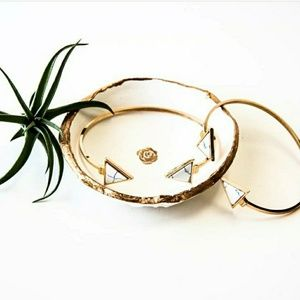 Jewelry - Gold Marble Arrow Bracelet