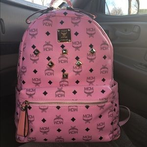 Women's Pink Mcm Backpack on Poshmark