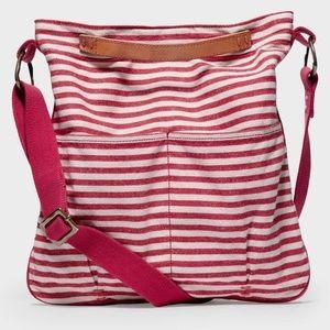 49 Square Miles Striped Canvas Crossbody Bag