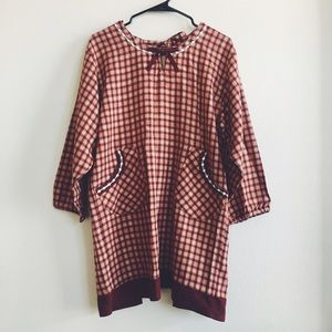 Accessories - Vintage Red Plaid Long Sleeve Apron