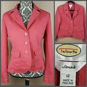 Talbots Jackets & Blazers - Red Pink Blazer by Talbots Size 12