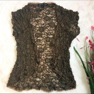 Ann Ferriday Other - Ann Ferriday Earthy Boutique Lace Bolero Top