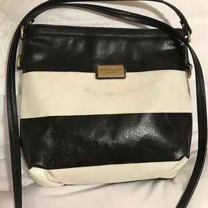 Black and white Tommy Hilfiger cross body bag