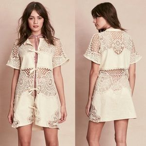 For Love and Lemons Dresses & Skirts - FOR LOVE AND LEMONS 🍋 Gracey Crochet Mini Dress