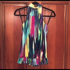 A. BYER Tops - A. Byers Multicolored High-neck Tank