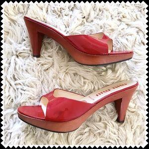 Miu Miu Shoes - Miu Miu red clog mule