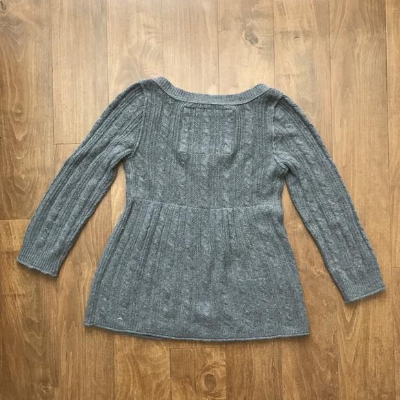 Abercrombie \u0026 Fitch Sweaters , Abercrombie \u0026 Fitch Babydoll Gray Cardigan  Sweater