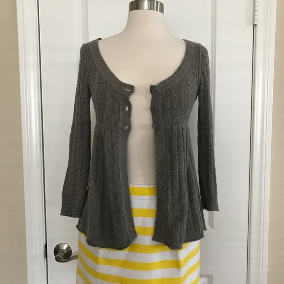Abercrombie & Fitch - Abercrombie & Fitch Babydoll Gray Cardigan ...