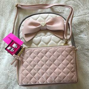 Betsey Johnson Handbags - Betsy Johnson Convertible Back Pack and Purse