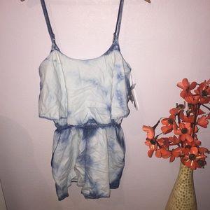 Energie Dresses & Skirts - NWT Denim Acid Washed Romper!