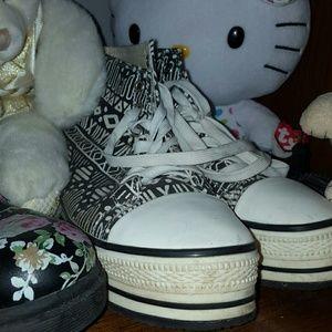 Aztec platform sneakers