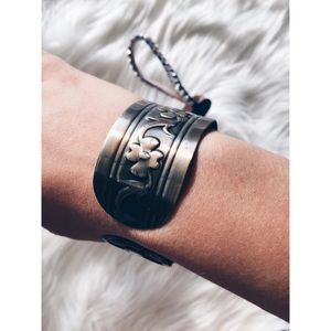 Rare Marc Jacobs Silver Brass Cuff Bracelet
