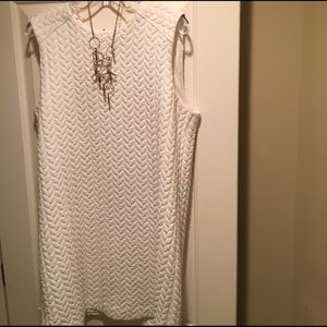 Ribbed mini A-Line sweater dress.