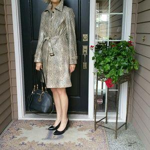 Gallery Jackets & Blazers - Gallery faux snakeskin lightweight coat
