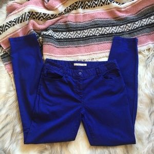 Trina Turk Pants - Trina Turk skinny blue pants