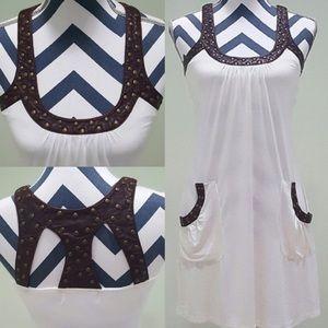 Vintage Havana Dresses & Skirts - Boho Dress, Brown Leather Straps!