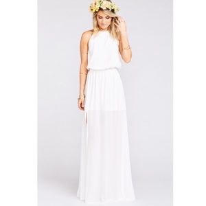 Show Me Your MuMu Dresses & Skirts - NWOT Show me your mumu heather maxi dress ivory