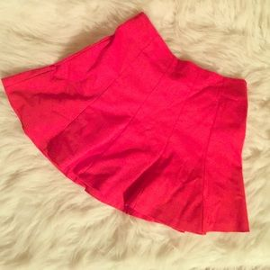 Red skirt from zara