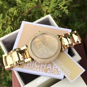 Michael Kors Accessories - New Michael Kors Parker MK bracelet watch MK6245