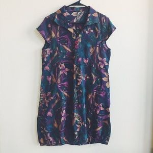 Dresses & Skirts - Purple and Green Tropical Print Dress