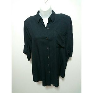 Tops - Vintage black polo shirt