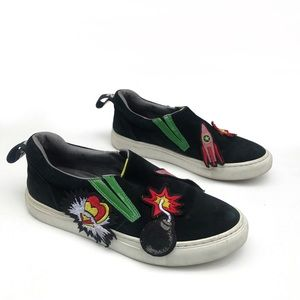 MSGM Shoes - MSGM Multi-Patch Slip on sneakers