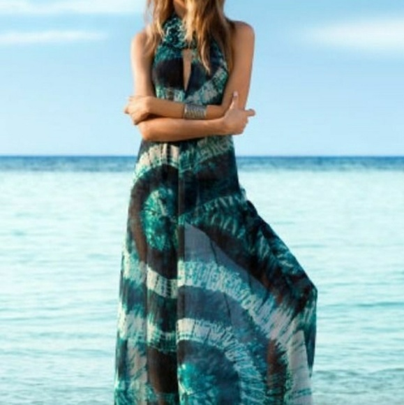 f72c3916a02 HM Beyonce collection blue beach coverup XS S NWT