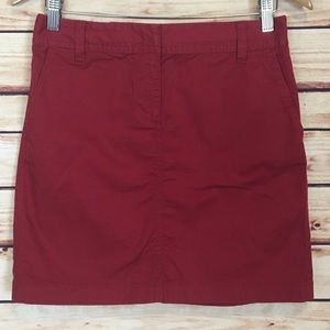 Ann Taylor LOFT Mini Skirt Utility Red Size 2