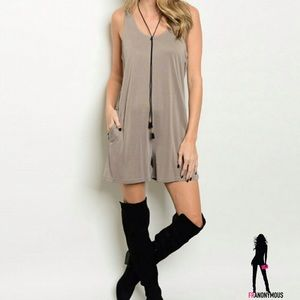Threadzwear Pants - Taupe Jersey Romper S M L