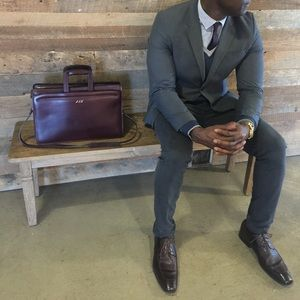 Jack Georges Men's Handcrafted Leather Briefcase