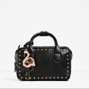 Zara studded mini bowling bag
