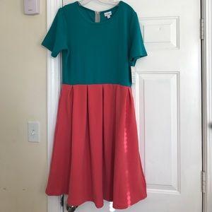 LuLaRoe two colors Amelia dress 2XL