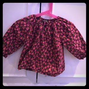 Pink Chicken Other - Pink Chicken maroon pink rosebud peasant blouse