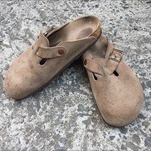 Birkenstock Shoes - Birkenstock Suede Boston Mule Clog 38