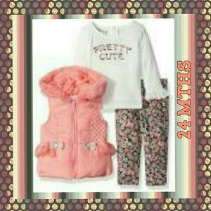 Little Lass Other - NEW Little Lass 6 Baby Girls' 3 Piece Hooded Vest