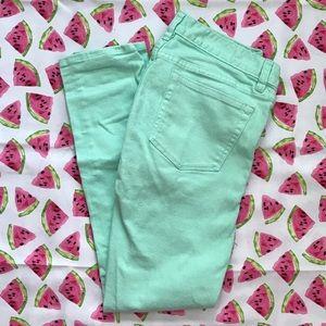J.Crew Factory Denim - Mint Green J.Crew Toothpick Skinny Jeans
