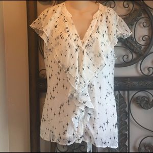 NWT white and black top