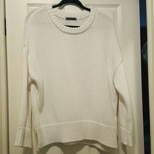 Zara white cable knit sweater