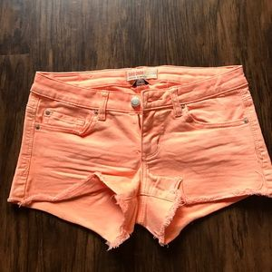 Garage Pants - Light Orange Cutoff Shorts Size 3