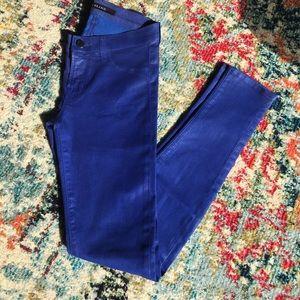 J Brand blue shimmer size 25 legging jeans