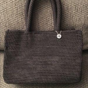 The Sak Handbags - The Sak Black Crochet Tote Handbag Purse
